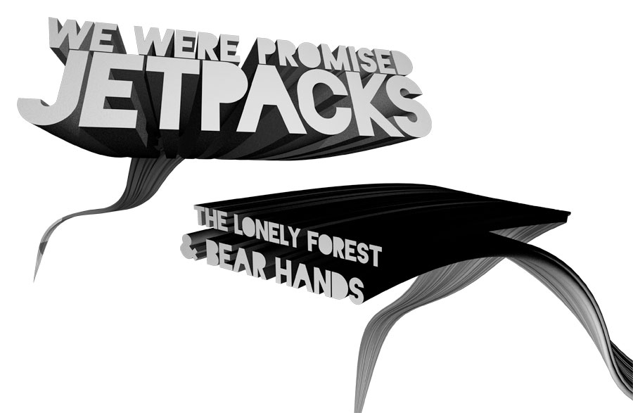 We Were Promised Jetpacks - 3D Typography
